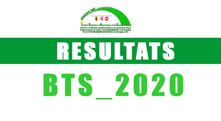 Résultats BTS 2020
