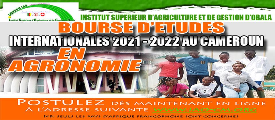 Bourse d'Etudes Internationales à ISAGO au Cameroun 2021/2022